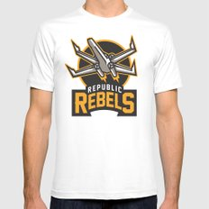 Republic Rebels Mens Fitted Tee White MEDIUM
