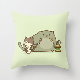 Kitty Cosplay Throw Pillow