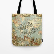Book Traveler Vintage Map v3 Tote Bag