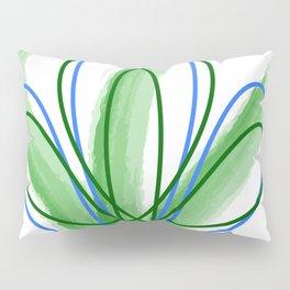 Abstract green geometric Pillow Sham