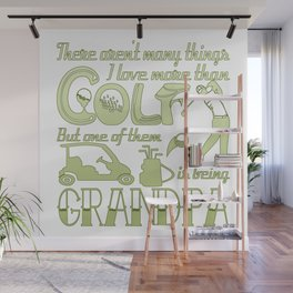 Golf Grandpa Wall Mural