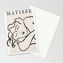 Henri matisse sleeping woman, matisse cut outs, lavender hues Stationery Cards