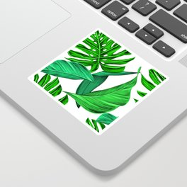 leaves tropical monstera summer Sticker