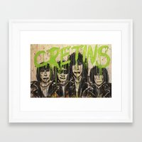 ramones Framed Art Prints featuring Cretin Hop by mayhemmcelroy