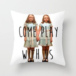 Come play with us Throw Pillow