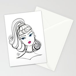 Vintage Fashion Doll Sketch Stationery Cards