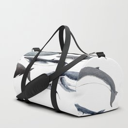 Whales and right whale Duffle Bag
