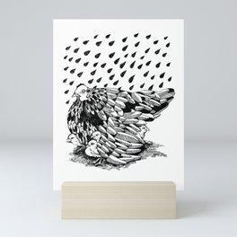 CHICKEN MAMA UMBRELLA Mini Art Print