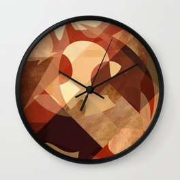 Abstrato Cobre 01 Wall Clock