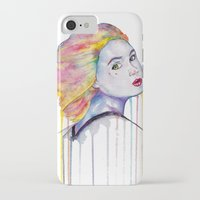 karen hallion iPhone & iPod Cases featuring Karen Gillan  by Jeremy Buckley illustration