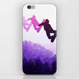 Snowboard Skyline IV iPhone Skin