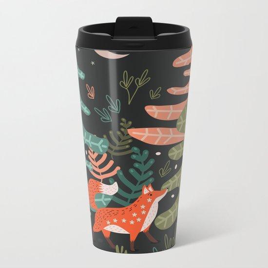 Evergreen Fox Tale Metal Travel Mug
