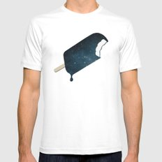 Space Melter MEDIUM Mens Fitted Tee White