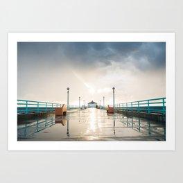 The Deserted Pier Art Print
