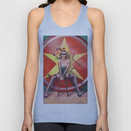 The Knife Thrower's Assistant Unisex Tank Top