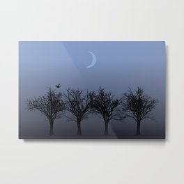 4 Trees Metal Print