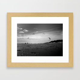 """KITE RAY"" kitesurf . kite . surf Framed Art Print"