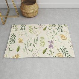 Beige floral pattern Rug