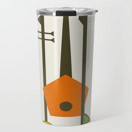 Mid-Century Modern Art Musical Strings Travel Mug