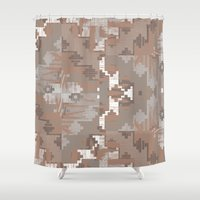 quibe Shower Curtains featuring Wood print III by Magdalena Hristova
