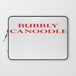 Bubbly Canoodle Red Laptop Sleeve