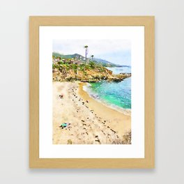Laguna Beach Coast Framed Art Print
