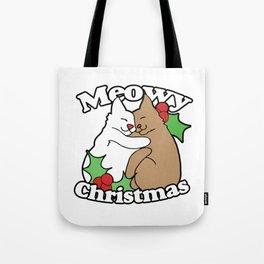 Meowy Christmas Tote Bag