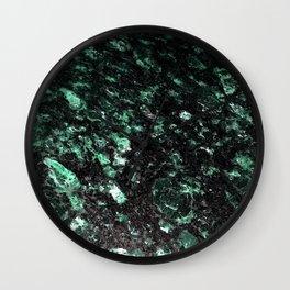 The Jade Sleeping Beneath the Black Granite Wall Clock
