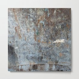 Abstract Grey with White Cloud Metal Print