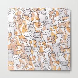 Sleepy Cats Metal Print