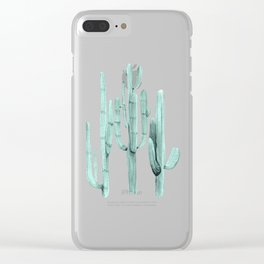 Cactus Trio Turquoise by Nature Magick Clear iPhone Case