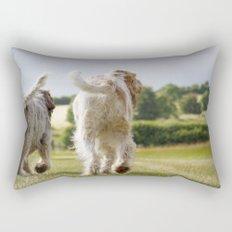 Italian Spinoni Dogs Woody & Ruben Rectangular Pillow