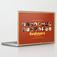 rushmore Laptop & iPad Skins featuring Wes Anderson / Rushmore - The Many Faces of Max Fischer by Isabel