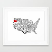 oregon Framed Art Prints featuring Oregon by Taylor Steiner