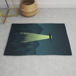 Forest UFO Rug