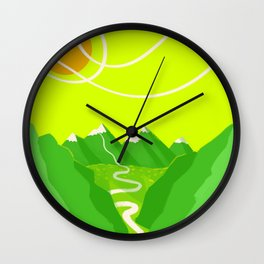 Minimalist Mountains Wall Clock