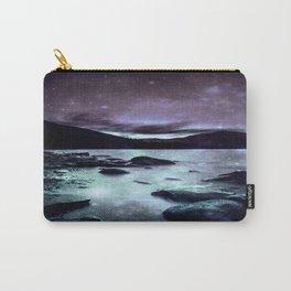 Magical Mountain Lake Aqua Lavender Carry-All Pouch