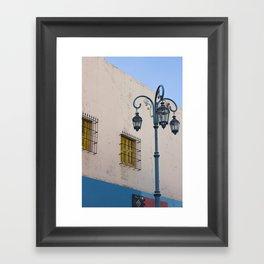 Street lights of La Boca I Framed Art Print