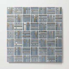 The Bookish Checkerboard Metal Print