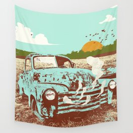 OLD TRUCK Wall Tapestry
