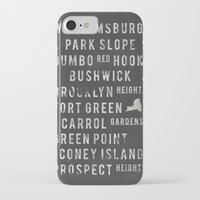 brooklyn iPhone & iPod Cases featuring Brooklyn by Juan Perez
