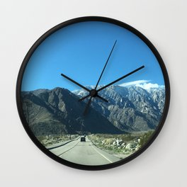 Mountain Snow in Palm Springs California Wall Clock