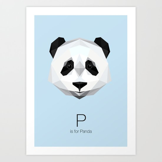 P is for Panda Art Print