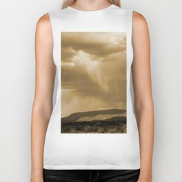 Rain's Coming in Sepia Biker Tank