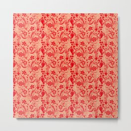 motif red flower 5 Metal Print