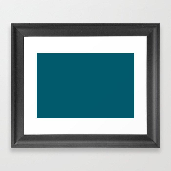 Best Seller Sherwin Williams Trending Colors of 2019 Oceanside (Dark Aqua Blue) SW 6496 Solid Color Gerahmter Kunstdruck