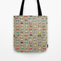 cars Tote Bags featuring Cars by Marcelo Badari