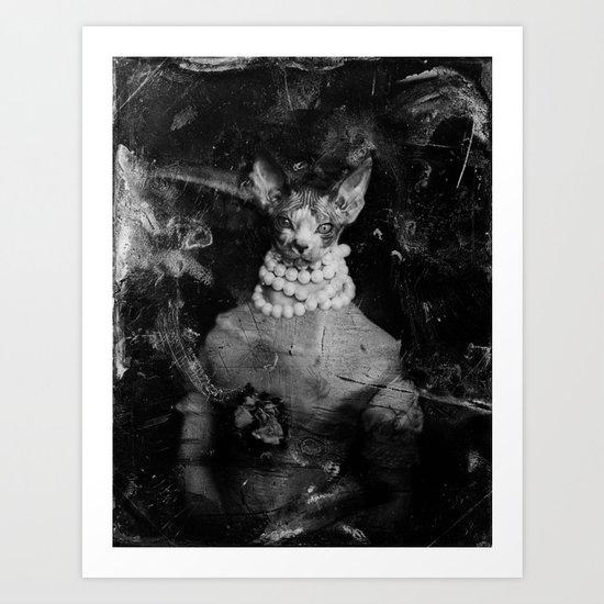 Royal sphynx decay Art Print
