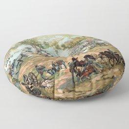 Battle Of Gettysburg -- American Civil War Floor Pillow