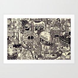 Monster Mart Art Print